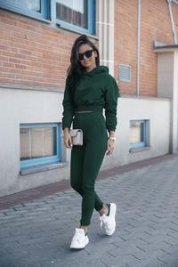 Green Sportsuit Hoodie and Slim Joggers