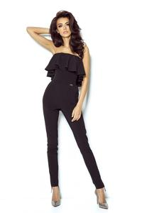 Black Summer Jumpsuit With Frill