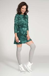 Green Washed Colours Mini Dress