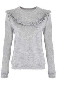 Grey Light Sweater with Frill