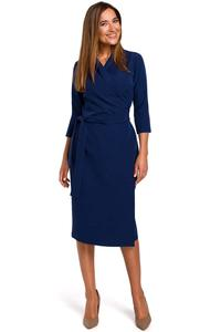Nevy Blue Fitted Envelope Dress Fied on the Side
