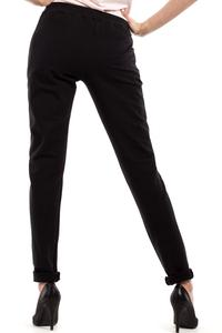Black Slim Legs Pants with Zippers
