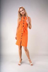 Safari Style Summer Dress - Orange