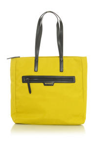 Lime Yellow Shopper Bag with Front Pocket