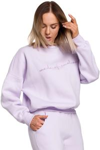 Sweatshirt with embroidery (Lilac)