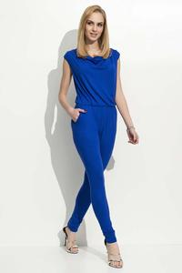 Blue Long Slim Legs Ladies Jumpsuit