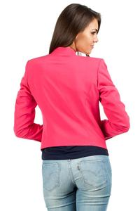 Deep Pink Unique Collar Women Blazer Jacket
