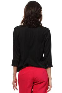 Black Stylish 3/4 Sleeves Shirt