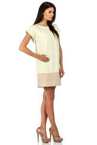 Yellow Pastel Lovely Straight Cut Lovely Dress