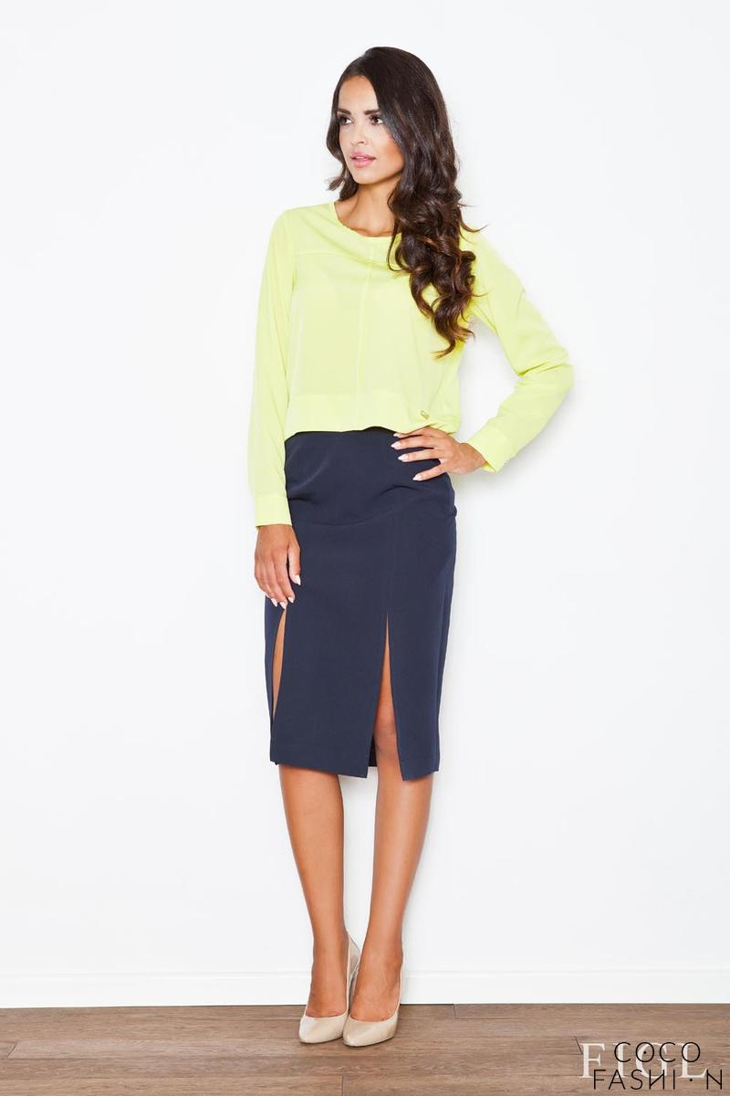 blue-bussiness-style-pencil-skirt