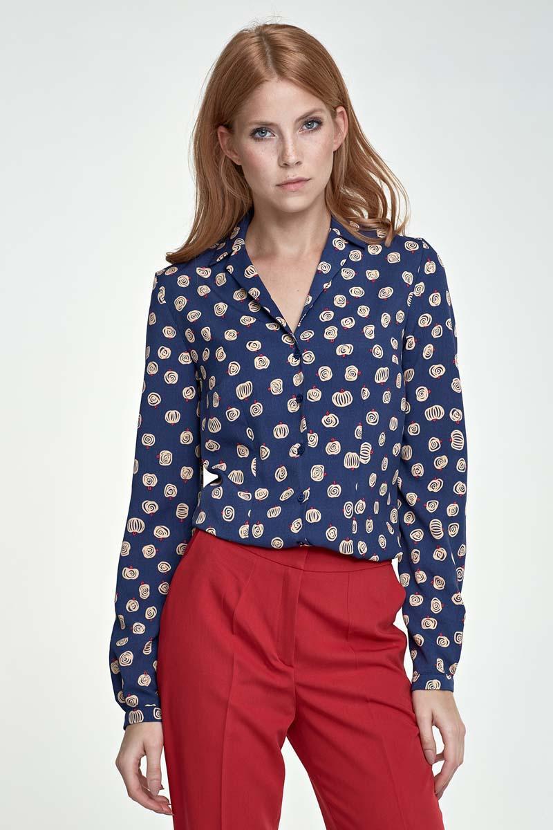 dark-blue-long-sleeves-pumpkins-pattern-shirt