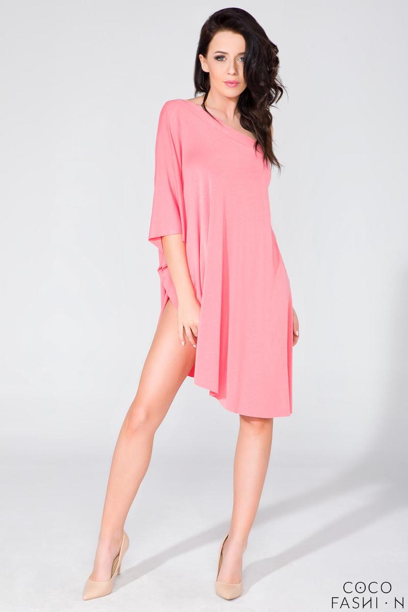 Pink Oversized Asymetrical Tunic
