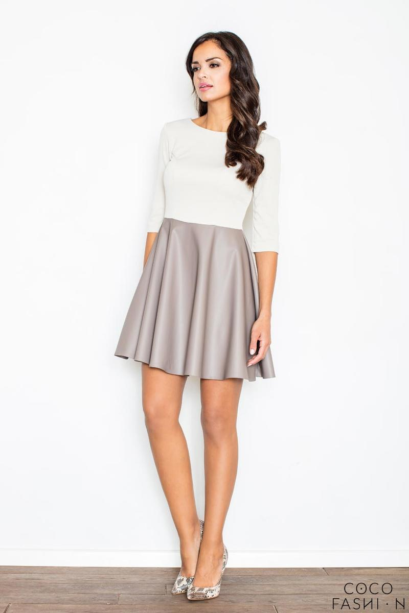 Cream Miss Delighted Kelly Skater Dress