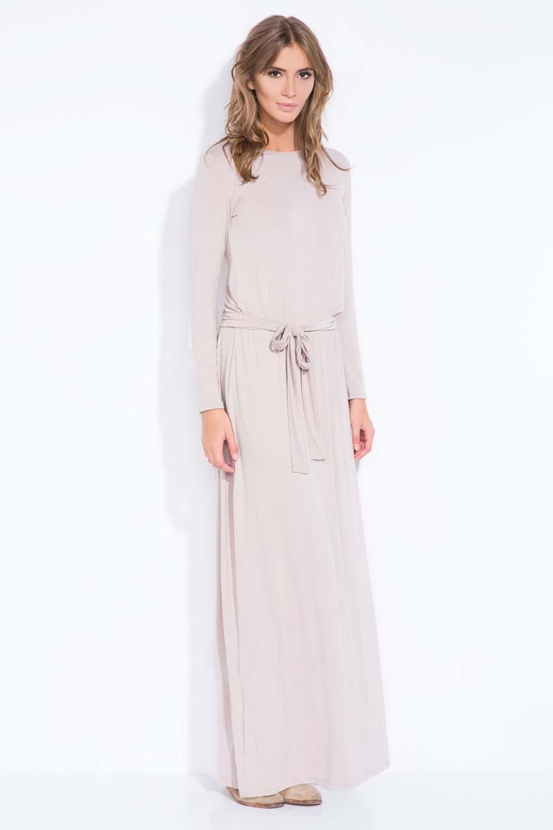 Mocca Casual Fit Belted Maxi Dress