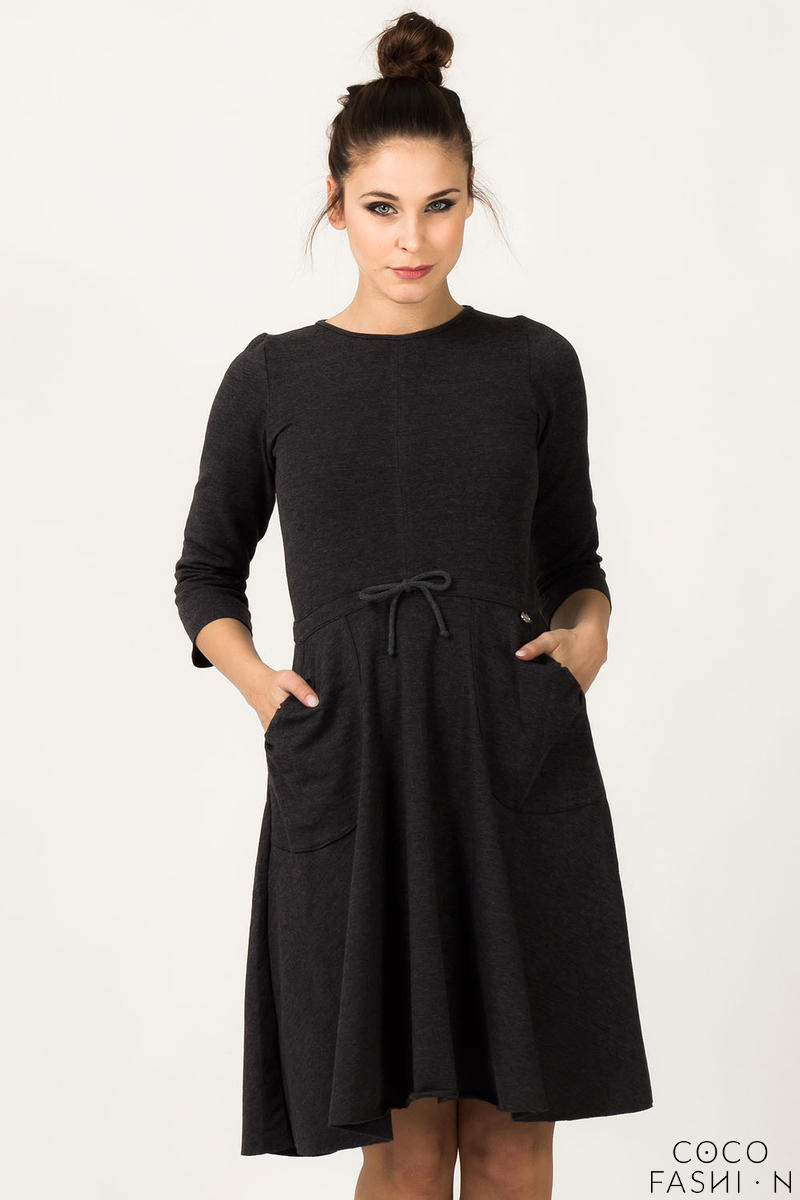 Dark Grey Humming Monk Spring Dress