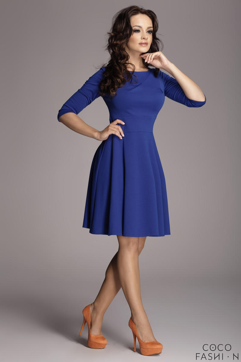 blue-giggly-fashion-flared-skirt-dress