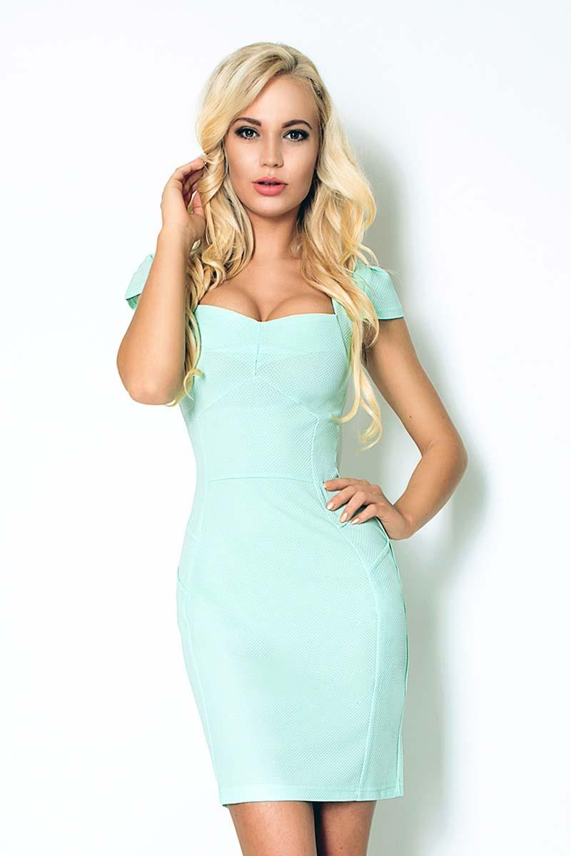 light-blue-bodycon-fit-heart-neckline-dress