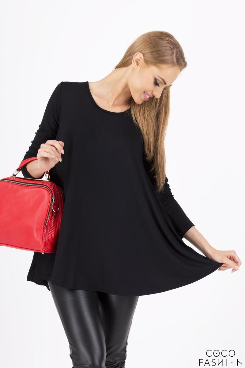 Black Long Sleeves Oversized Loose Blouse
