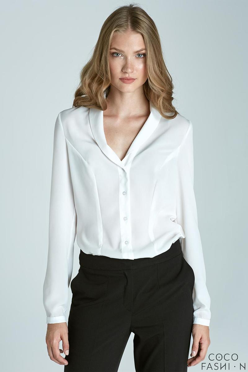 Ecru Chic&Stylish Soft Office Shirt