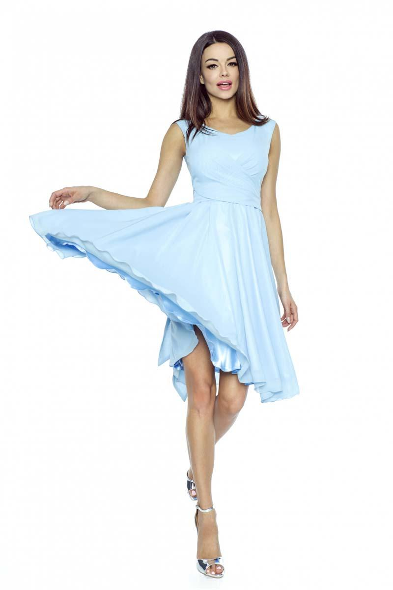 Light Blue Chiffon Coctail Dress