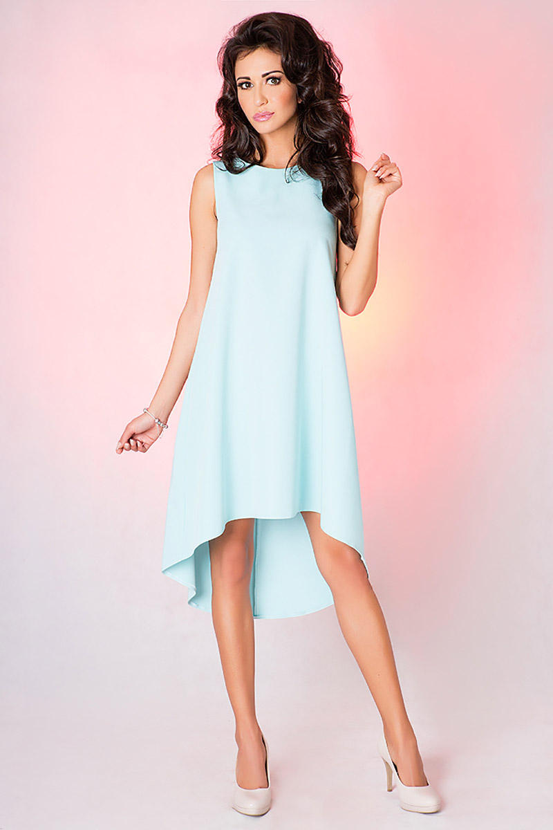Mint Green Asymetrical Coctail Dress