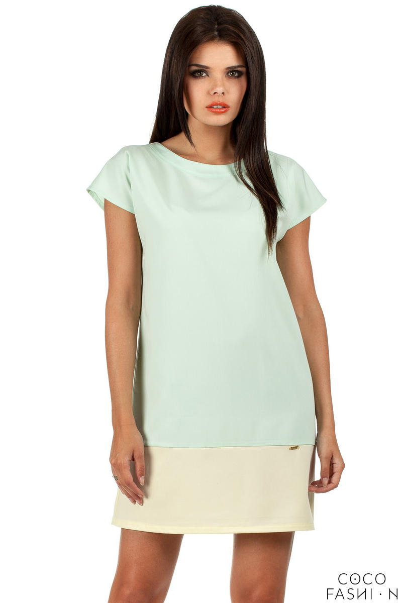 Mint Pastel Lovely Straight Cut Lovely Dress