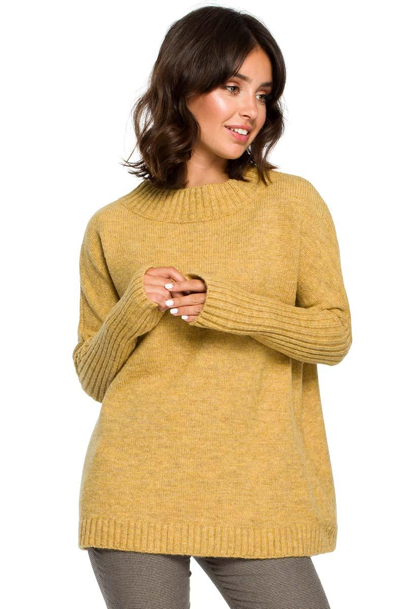 Mustard Yellow Simple Fall Sweater