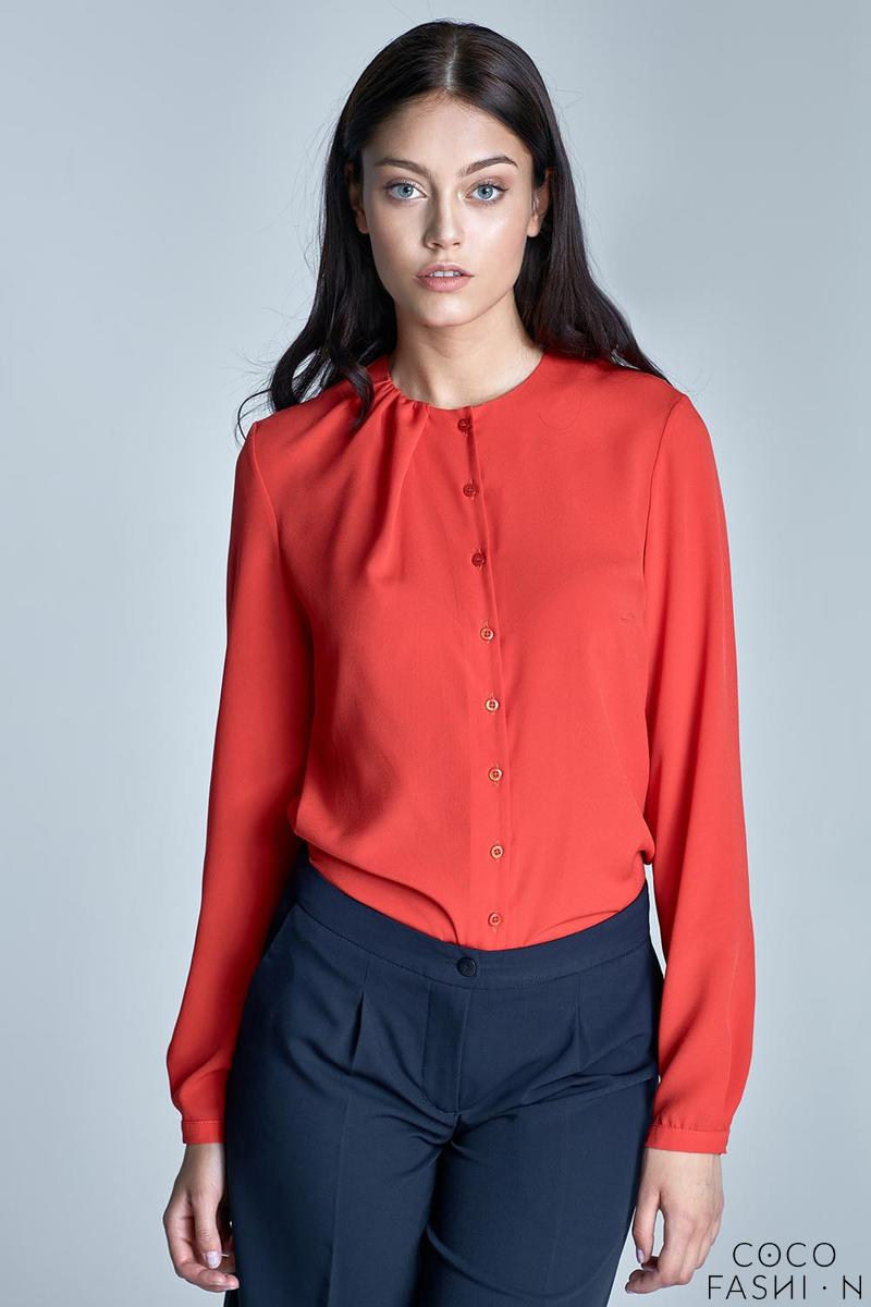 orange-round-neckline-long-sleeved-shirt