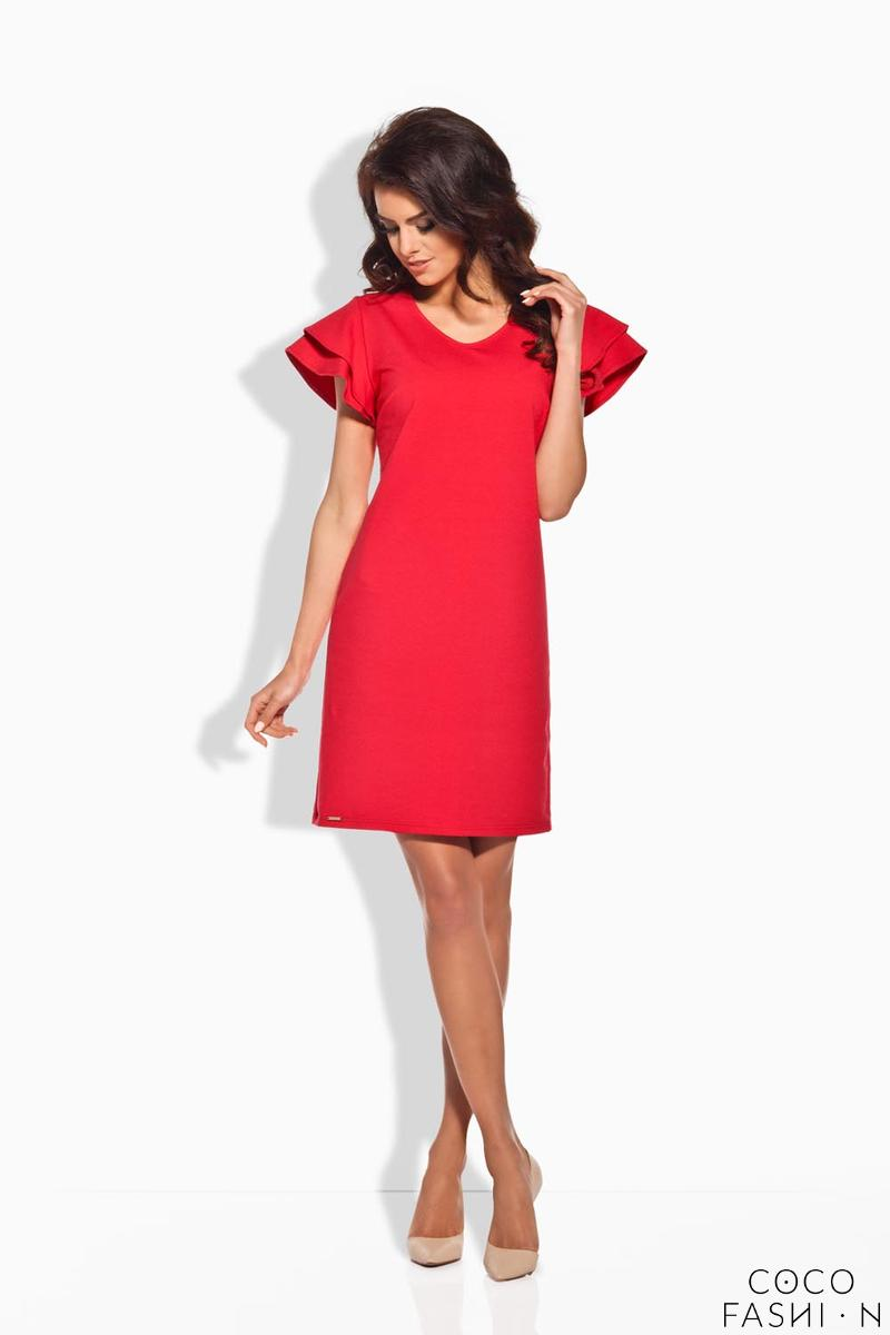 Red Coctail Butterfly Sleeves Dress