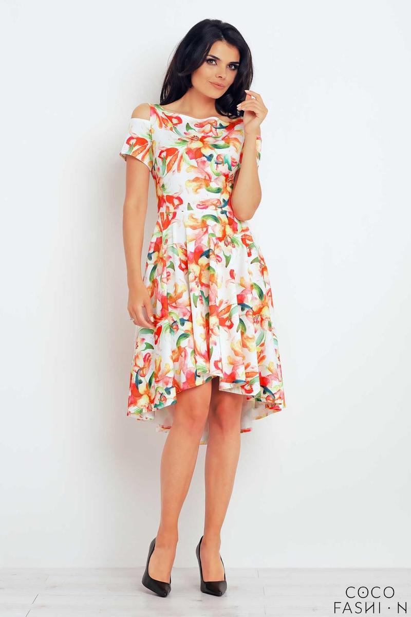 orange-flowers-pattern-asymetrical-cut-out-shoulders-dress