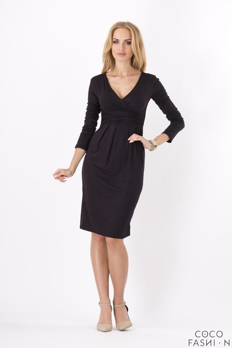 Black Elegant V- Neck Dress
