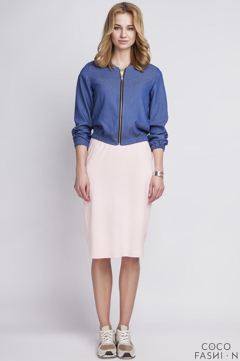 Blue Jeans Short Bomber Jacket