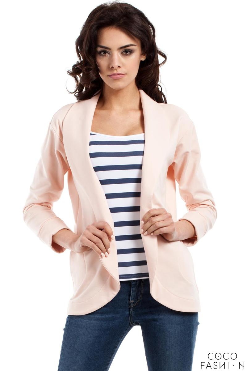 peach-loose-lapels-blazer