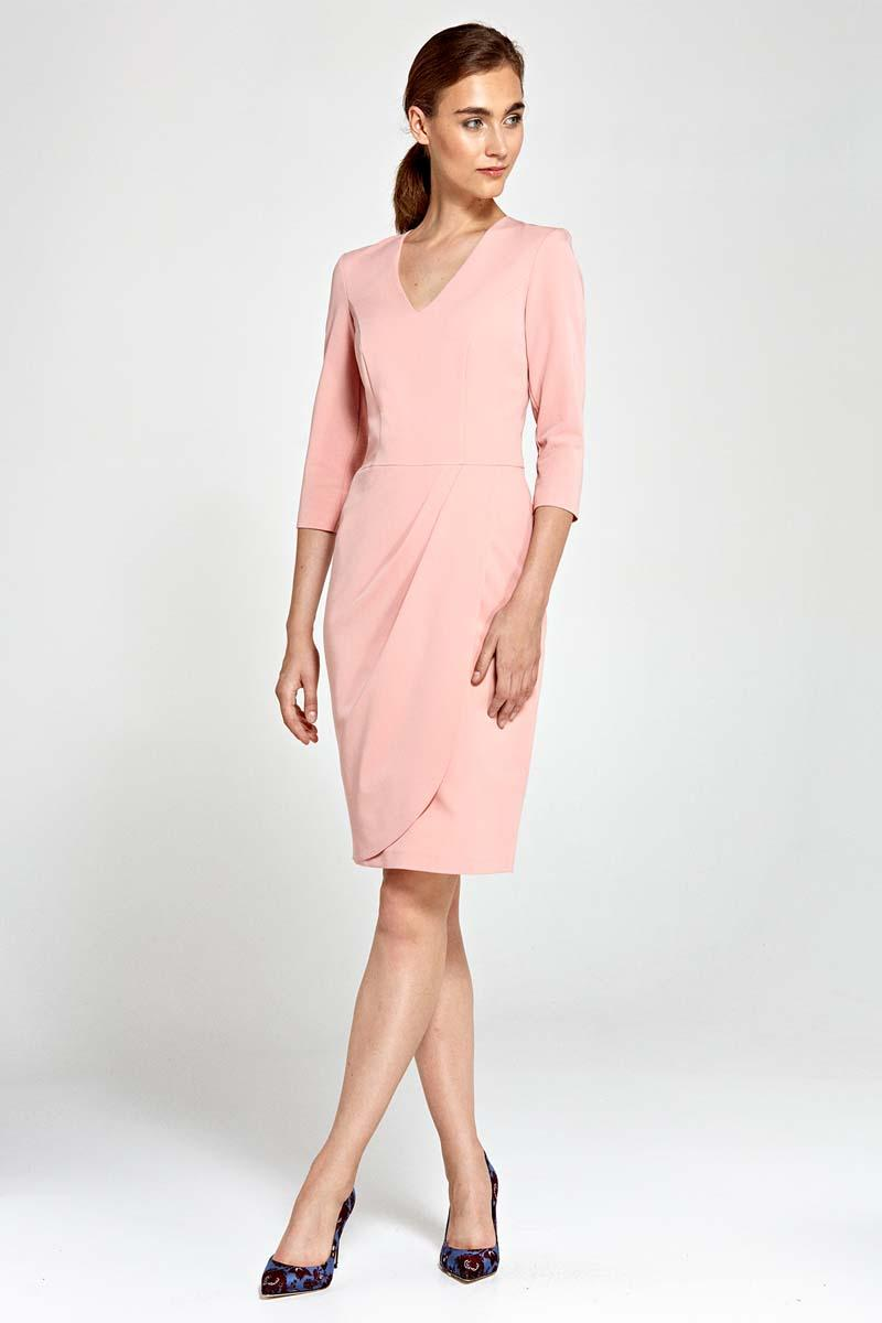 pink-classic-office-style-dress