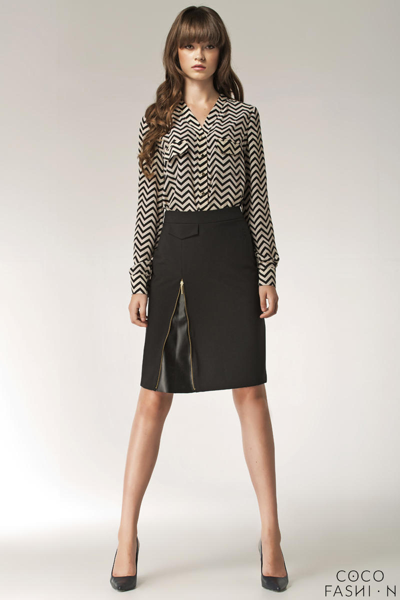 black-striped-vendetta-collarless-appointment-formal-blouse