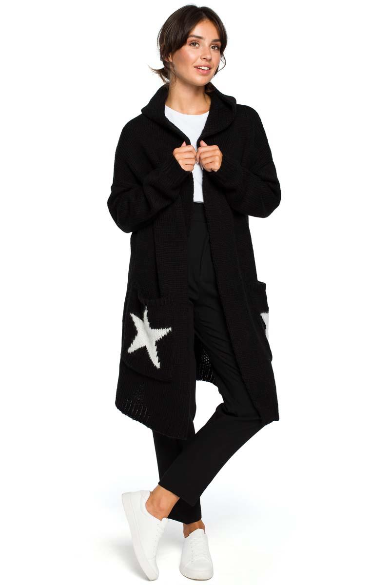 Long Sweater Hooded With Star