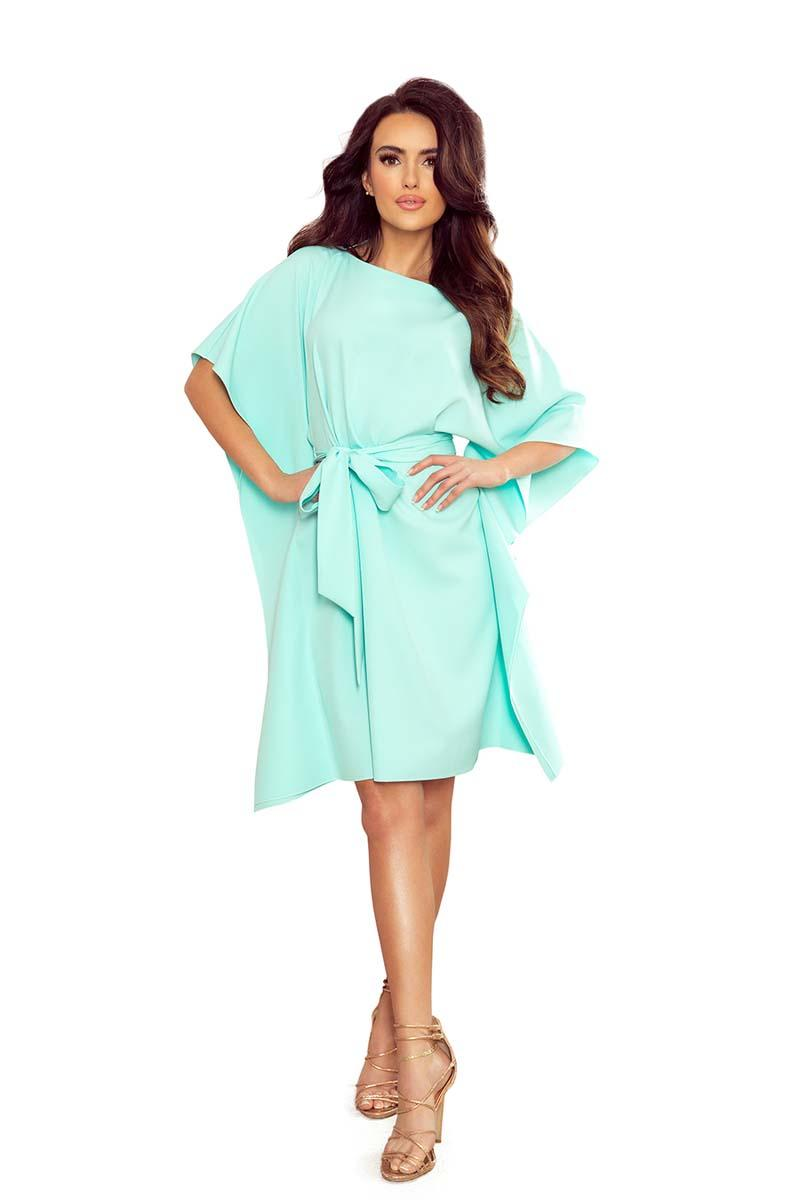 Mint Butterfly Dress with Belt
